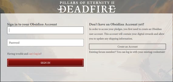 Pillars of eternity ii deadfire update 25 manage your pledge on once logged in to the eternity backer portal you will be brought to the manage deadfire pledges page where you can confirm that your pledge is correct fandeluxe Choice Image